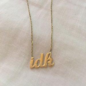 Jewelry - Custom  |  idk necklace